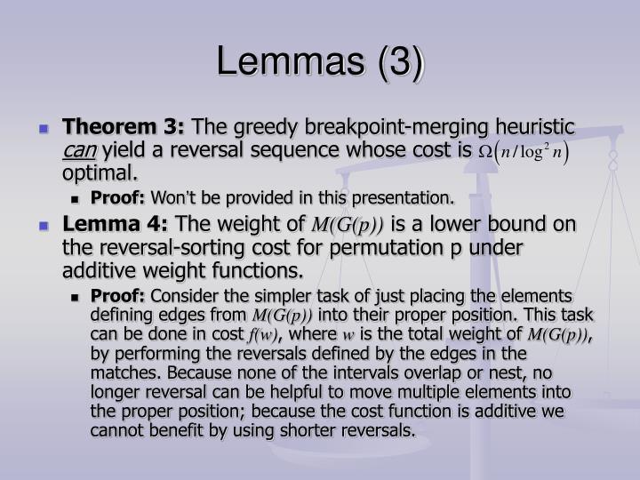 Lemmas (3)