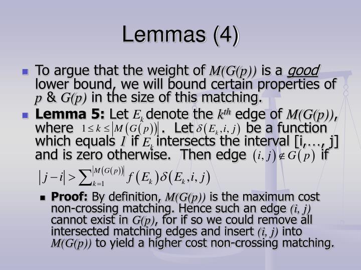 Lemmas (4)