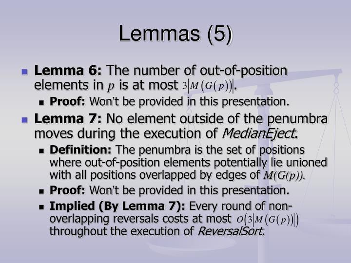 Lemmas (5)