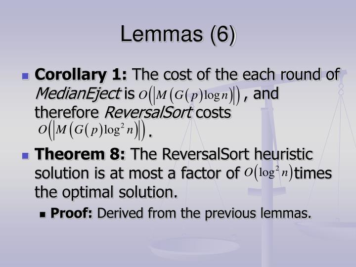 Lemmas (6)
