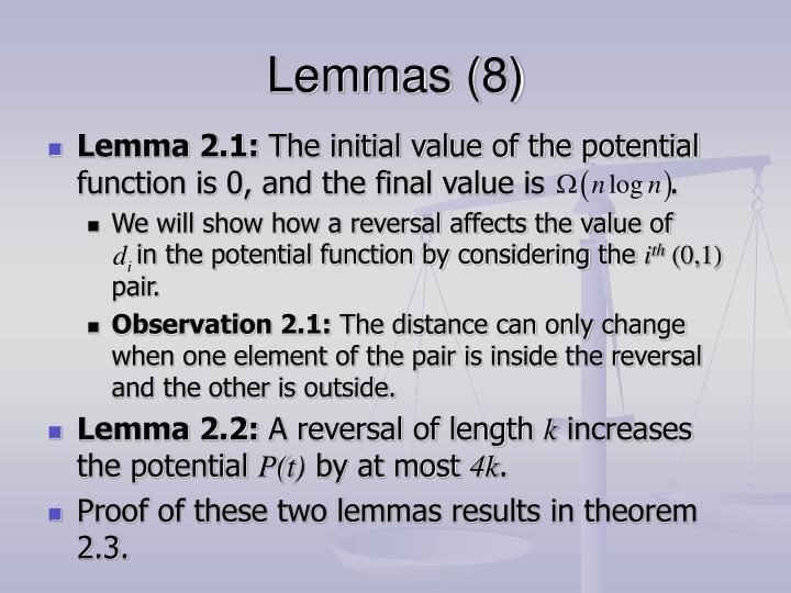 Lemmas (8)