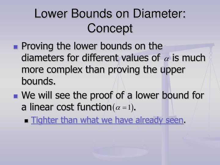 Lower Bounds on Diameter: