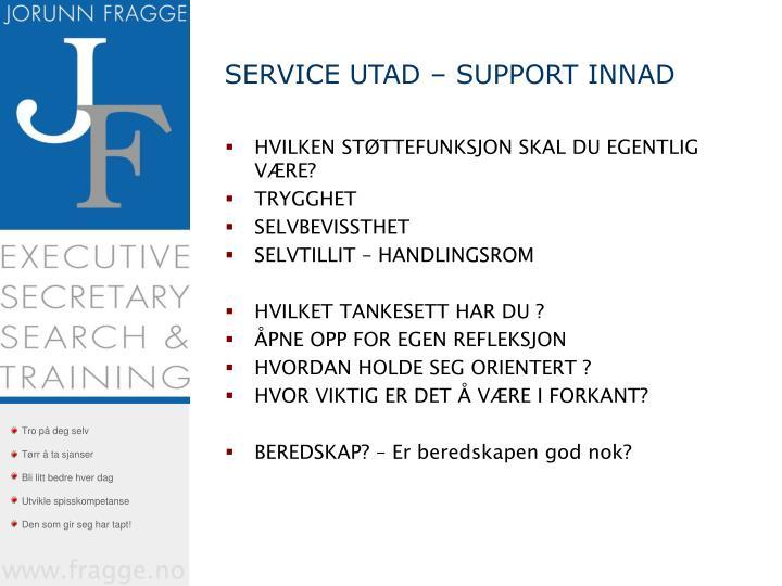 SERVICE UTAD – SUPPORT INNAD