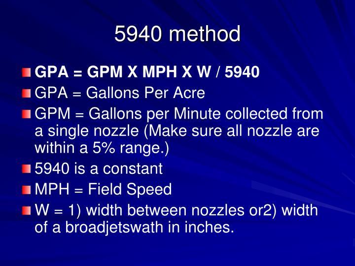 5940 method