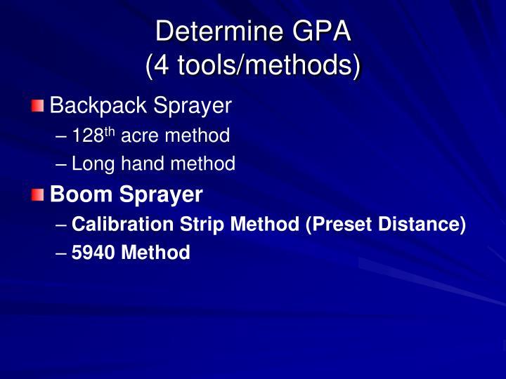 Determine GPA