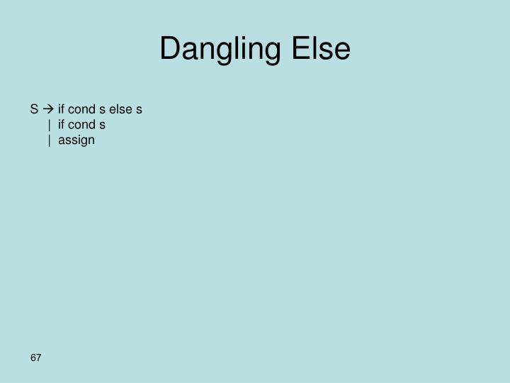 Dangling Else