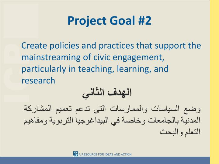 Project Goal #2
