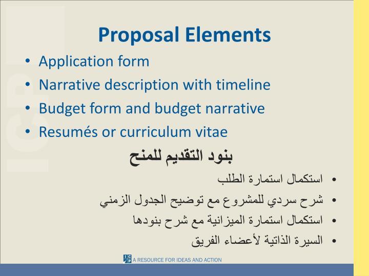 Proposal Elements