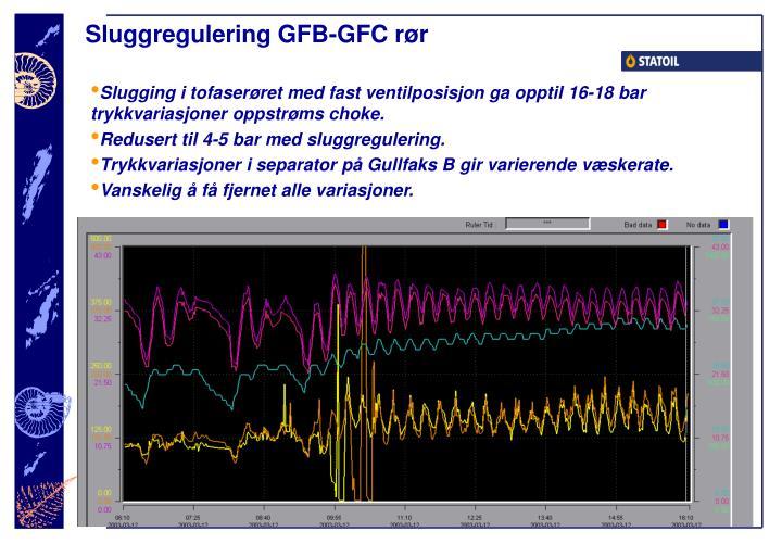 Sluggregulering GFB-GFC rør
