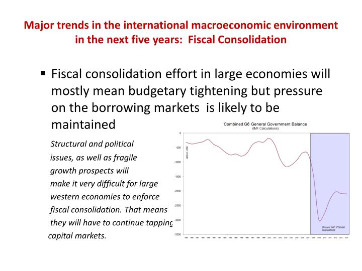 Major trends in the international macroeconomic environment in the next five years:  Fiscal Consolidation
