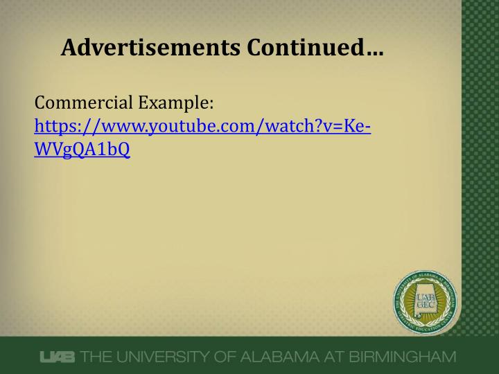 Advertisements Continued…
