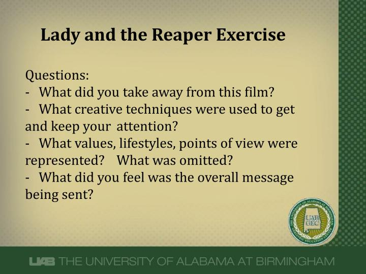 Lady and the Reaper Exercise