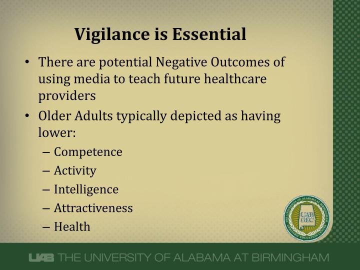 Vigilance is Essential