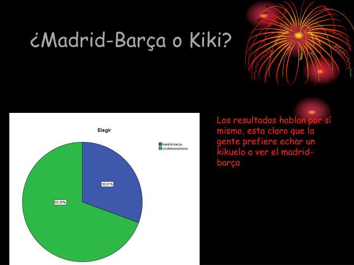 ¿Madrid-Barça o Kiki?
