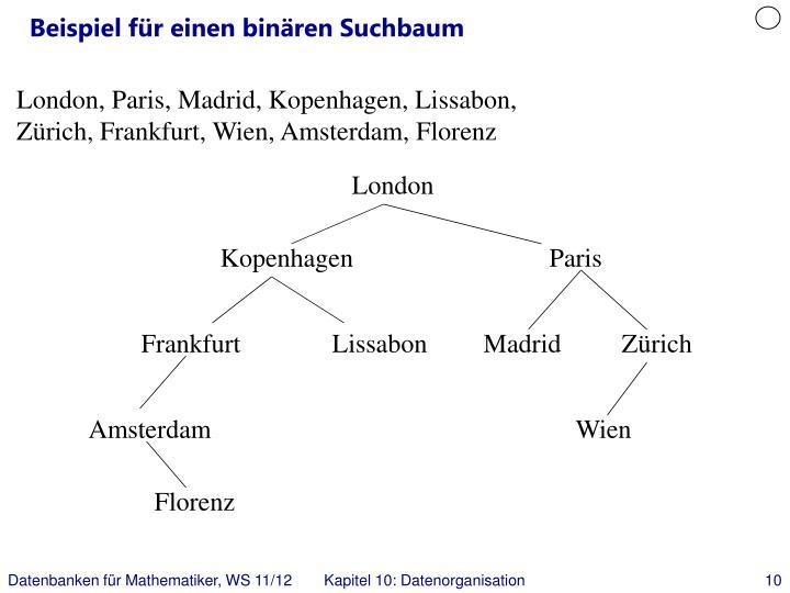 Beispiel für einen binären Suchbaum