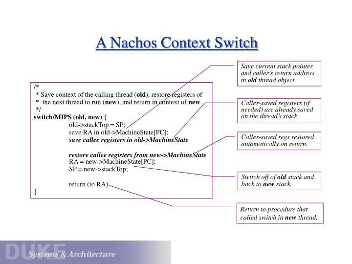 A Nachos Context Switch