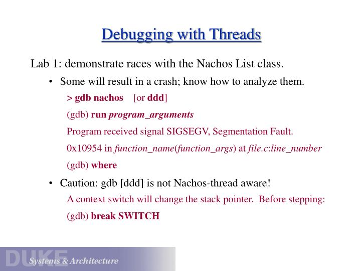 Debugging with Threads