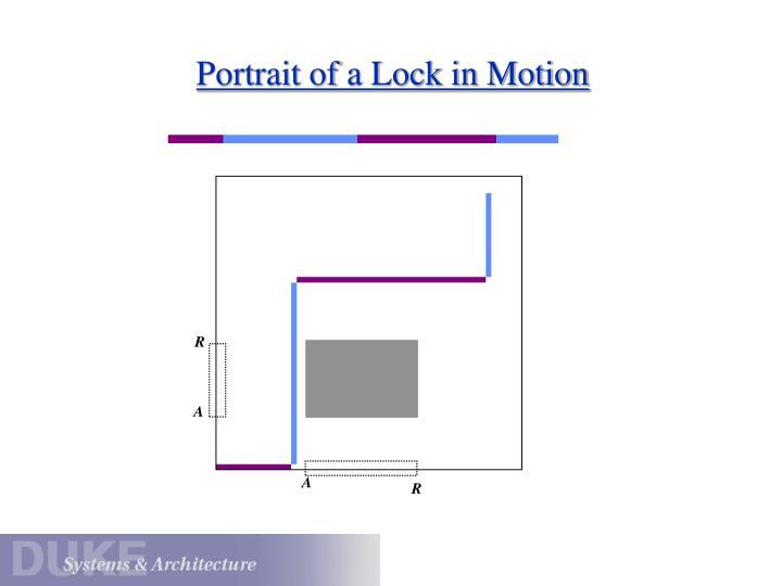 Portrait of a Lock in Motion