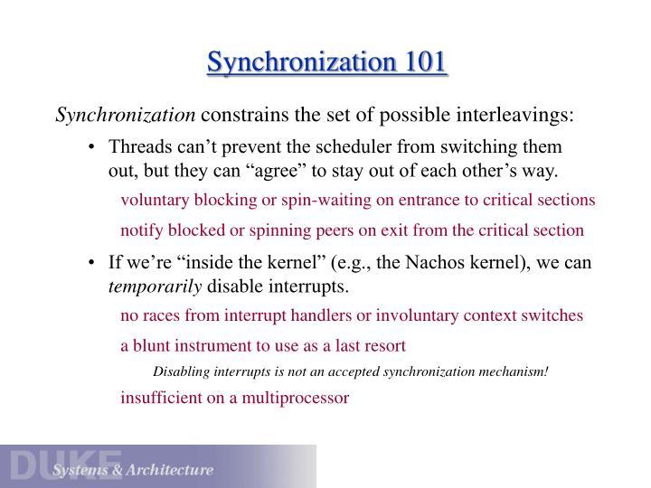 Synchronization 101