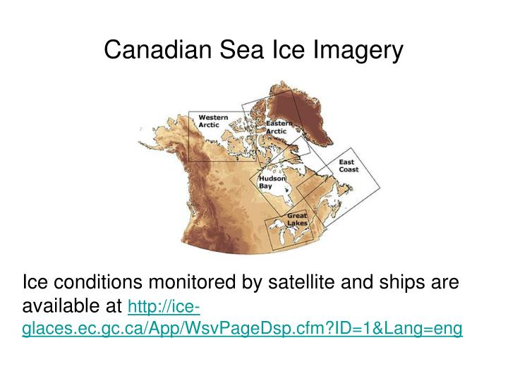 Canadian Sea Ice Imagery