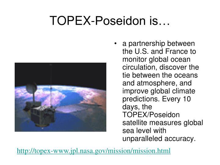 TOPEX-Poseidon is…