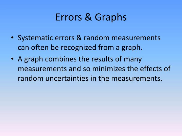 Errors & Graphs