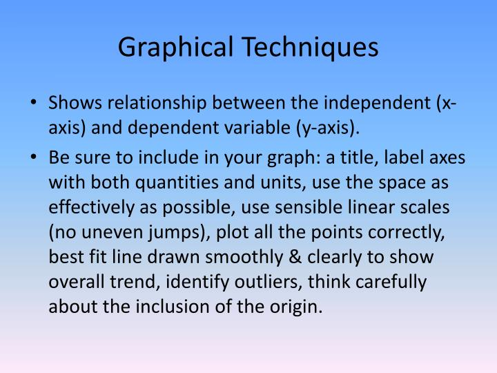 Graphical Techniques