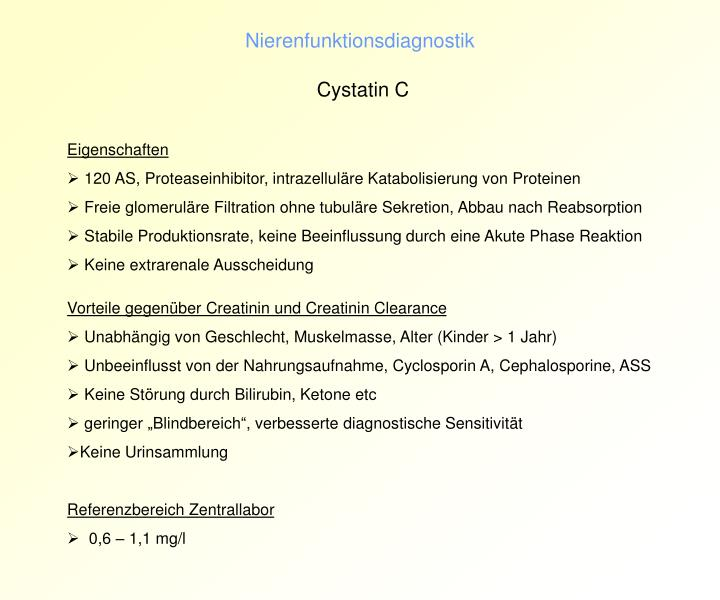 Nierenfunktionsdiagnostik