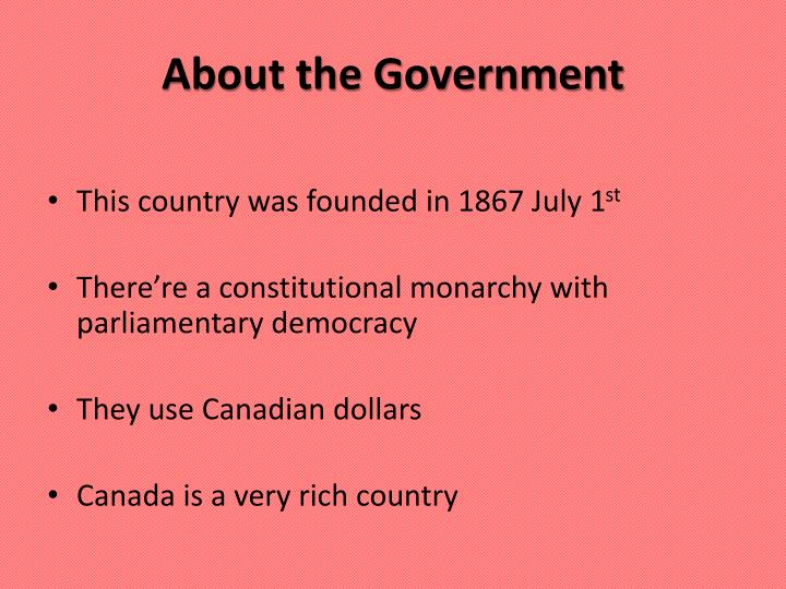 About the Government