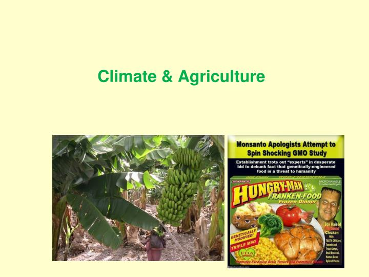 Climate & Agriculture