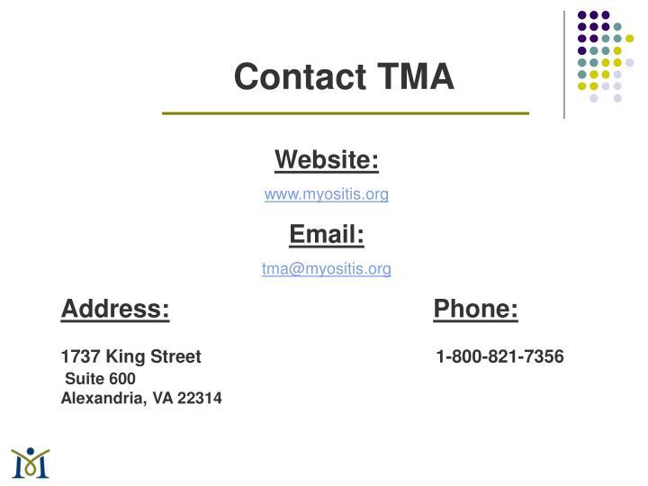 Contact TMA