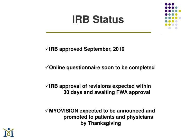 IRB Status