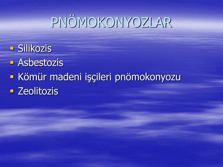 PNÖMOKONYOZLAR