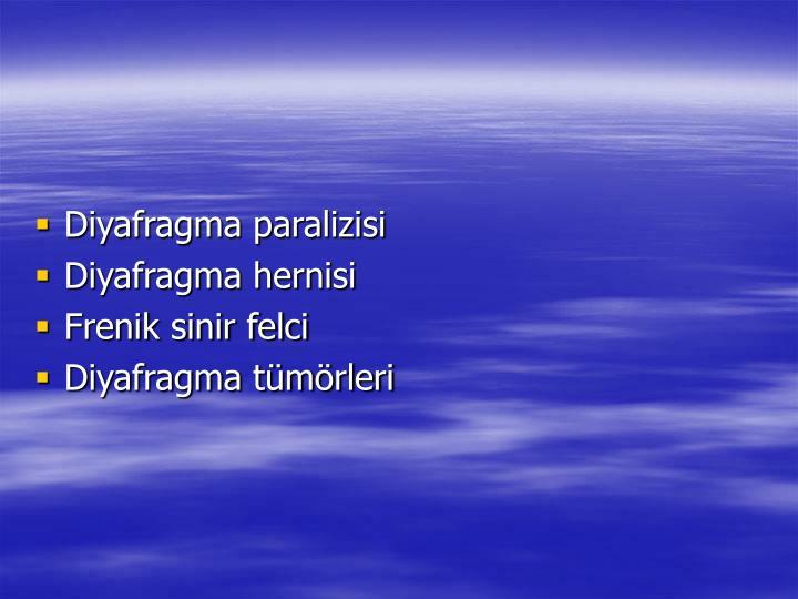 Diyafragma paralizisi