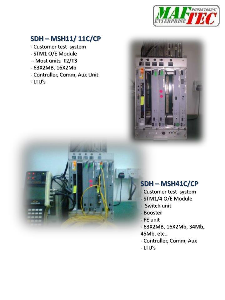 SDH – MSH11/ 11C/CP