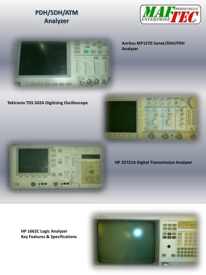PDH/SDH/ATM Analyzer