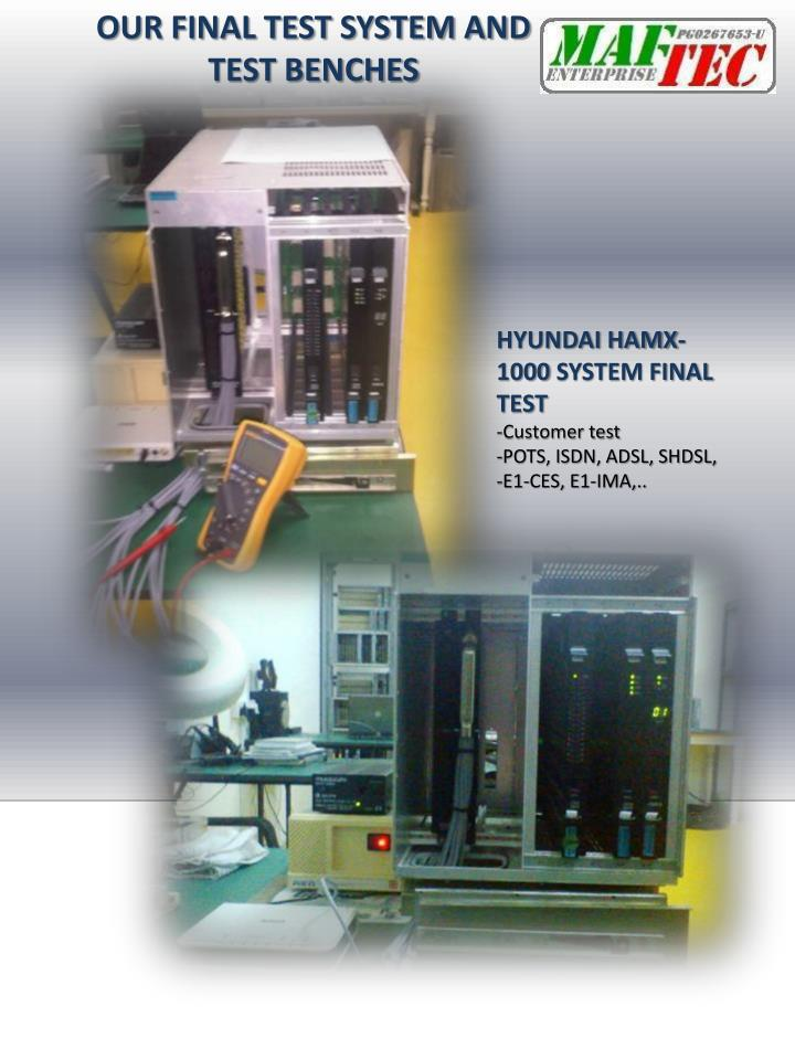 OUR FINAL TEST SYSTEM AND