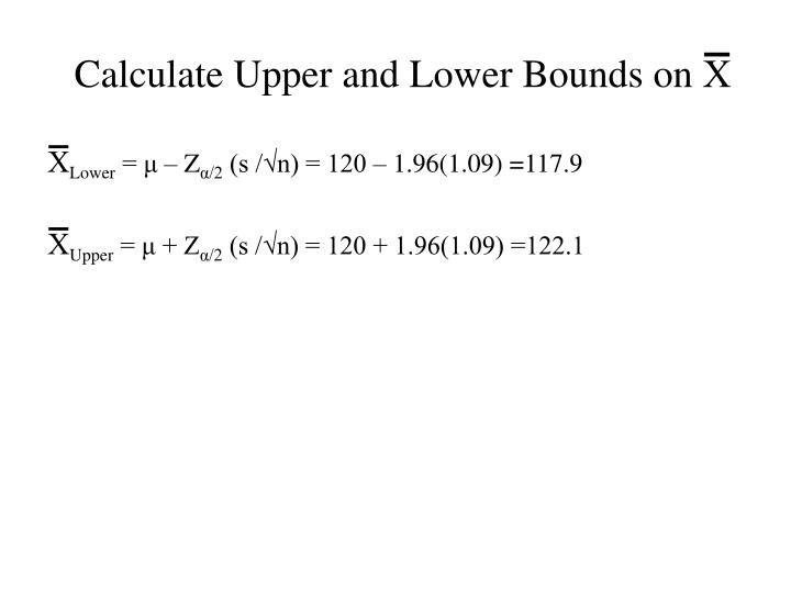 Calculate Upper and Lower Bounds on