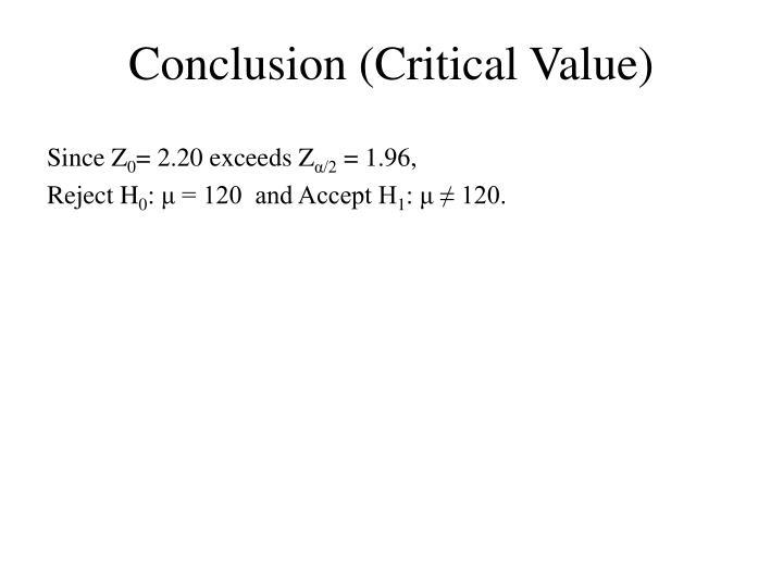Conclusion (Critical Value)