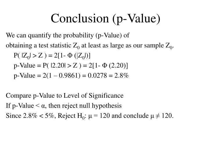 Conclusion (p-Value)