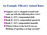 an example effective annual rates