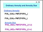 ordinary annuity and annuity due1