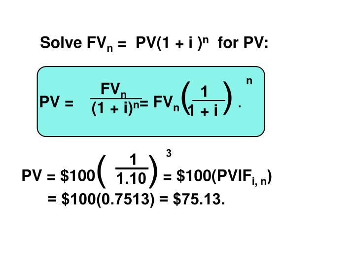 Solve FV
