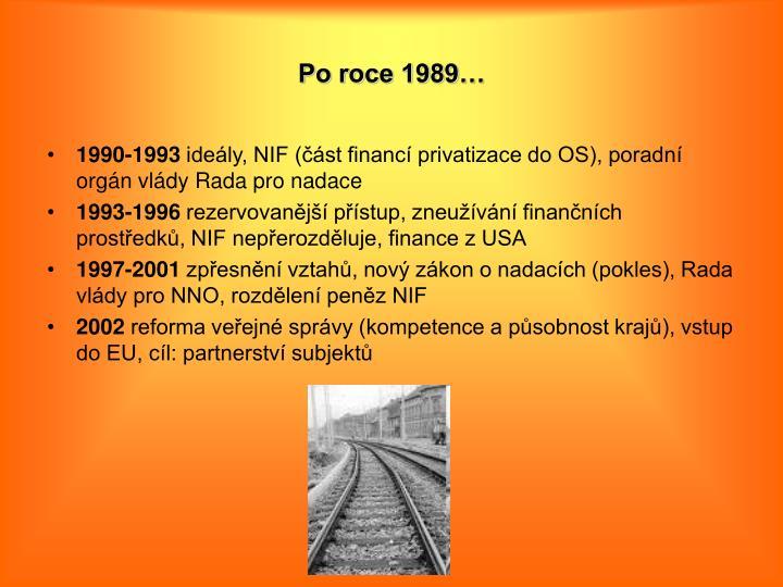 Po roce 1989…