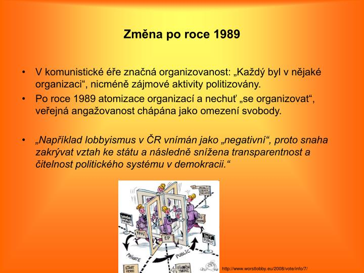 Změna po roce 1989