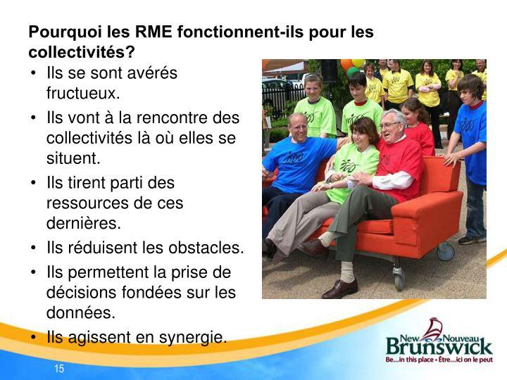 Pourquoi les RME fonctionnent-ils pour les collectivités?