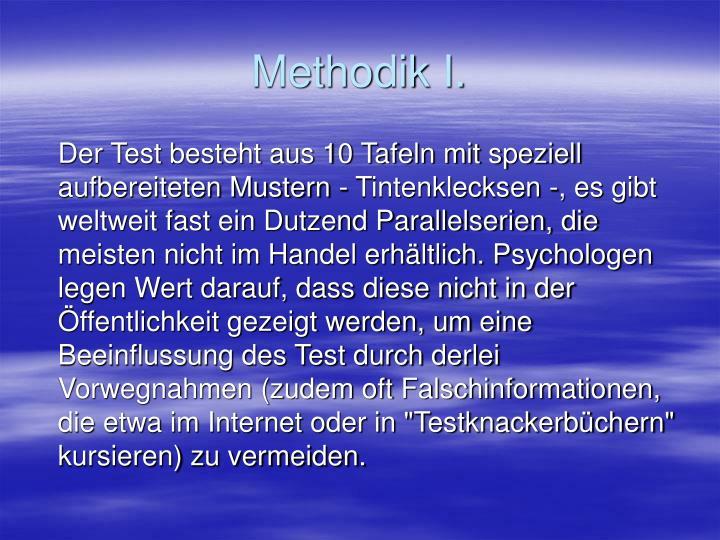 Methodik I.