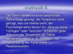 methodik ii