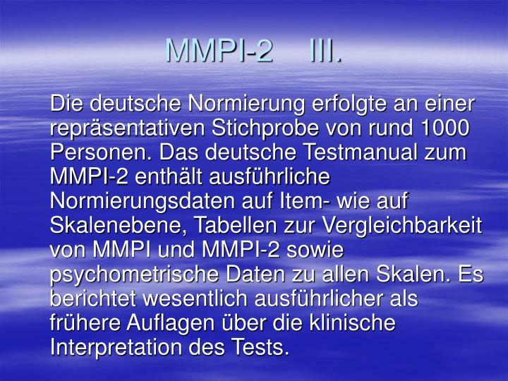 MMPI-2    III.