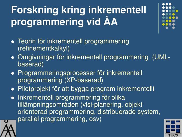 Forskning kring inkrementell programmering vid ÅA